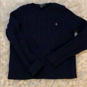 Navy RL sweater cotton